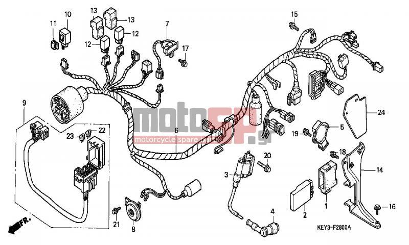 motosp - honda - fes125  ed  2000 - electrical
